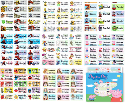 Medium (Size:30x13mm) Character Personalised Name Labels, Stickers, Waterproof