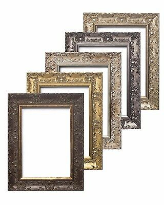 WIDE Ornate Shabby Chic Antique swept Picture photo frame Gold MUSE