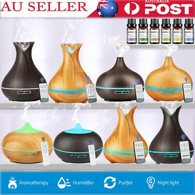 Aroma Aromatherapy Diffuser LED Essential Oil Ultrasonic Air Humidifier AU Stock
