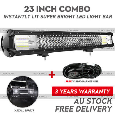 23INCH Philips LED Light Bar Rri Row Combo Beam Work Driving Offroad 4WD 22/20''