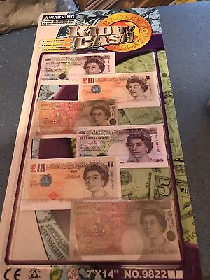 Childrens Kids Pretend Toy Fake Money ££ Cash Notes Role Play  Shops