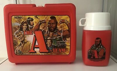 1983 A Team Vintage Lunch Box and Thermos. Mr T