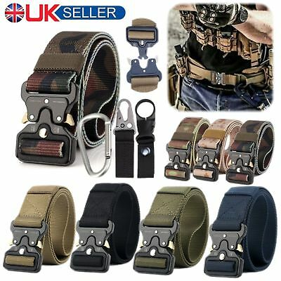 Mens Outdoor Tactical Camo Belt Army Military Nylon Belt Safety Combat Waistband
