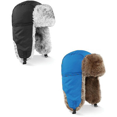 New BEECHFIELD Unisex Warm Stylish Sherpa Trapper Fur Hat in 5 Colours S/M- L/XL