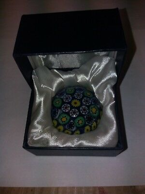 Multi Fleur glass paperweight 6cm, lovely gift idea! Comes in presentation box
