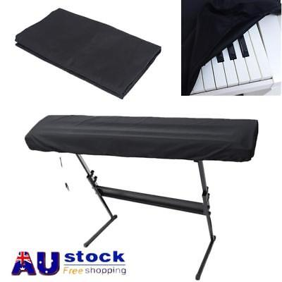 Piano Keyboard Dust Cover Protector For 61/88 Key Electronic Digital Piano Black