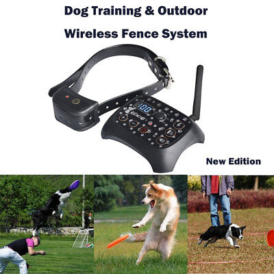 Rechargeable Wireless Electric Dog Pet Fence Containment System No-Wire Collar