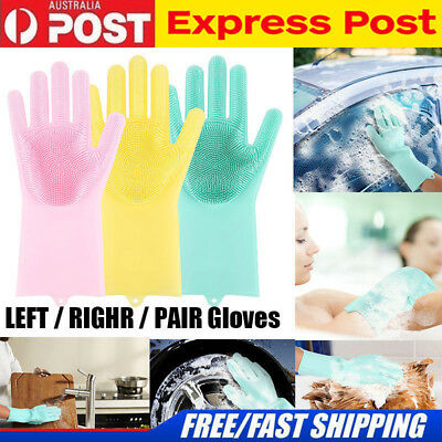 Washing Gloves Cleaning Magic Silicone Rubber Dish Sponge Eco-Friendly Scrubbing