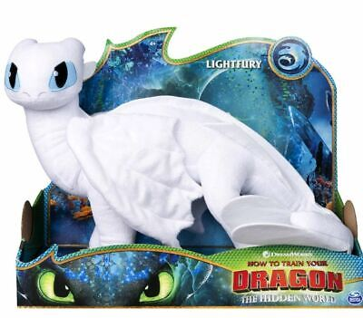 How to Train Your Dragon The Hidden World Lightfury 14inch Deluxe Plush
