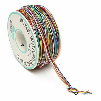 30AWG Tin Plated Copper 8-Wire Colored Insulation Test Wrapping 0.25mm New