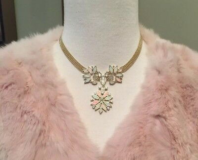 Kendra Scott Isabella Statement Necklace Gold Ivory Mother of Pearl/Kyocera Opal