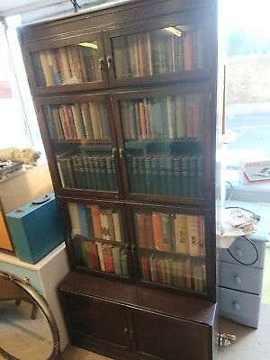 Antique Stacking Sectional oak bookcase Cabinet libary book case FREE LOCAL DELI