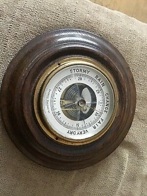 antique aneroid barometer Made In England