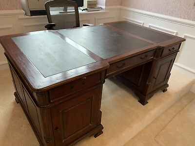 Good Quality Twin Pedestal Partners Desk. Needs of A Small Amount Of Restoration