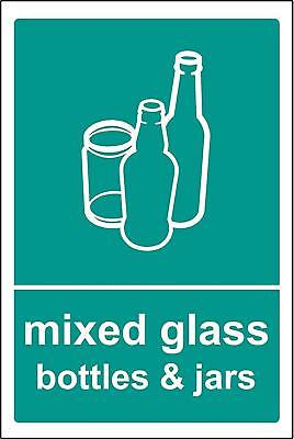 Mixed Glass Recycling Sign