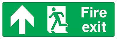 Fire exit up running man emergency Safety sign