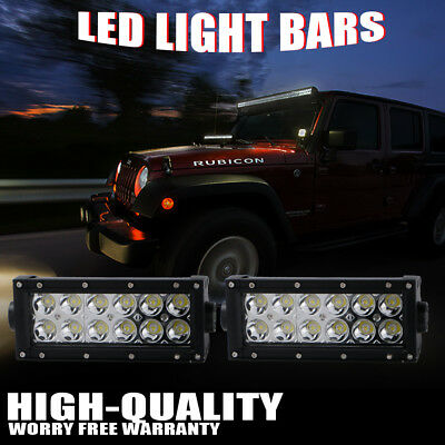 2x 7inch 36W Led Work Light Bar Spot Suv Driving Lamp Offroad 4WD For Pickup Van