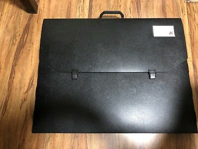 2 X COLBY ART 700A2 CARRY CASES POLYPROPYLENE A2 EMBOSSED WITH Handle