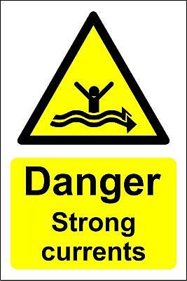 Danger strong currents water warning Safety sign