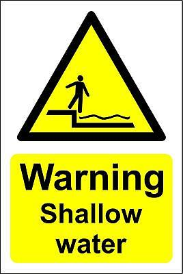 Warning shallow water Safety sign