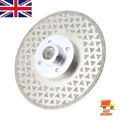 """4.5""""M14 Electroplated Diamond Cutting Grinding Disc Saw Blade For Marble Granite"""