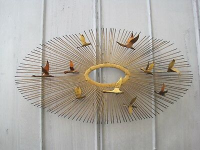 Vintage Mid Century Starburst Flying Geese Jere Metal Wall Art B9677