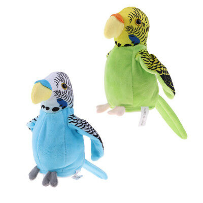 2pcs Talking Parrot Imitates And Repeats What You Say Fun Toy For Kids