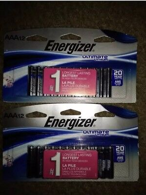 Lot of (24) Energizer ultimate lithium batteries AAA