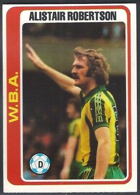 TONY BROWN TOPPS-FOOTBALL -#258- WEST BROM WBA RED BACK 1977