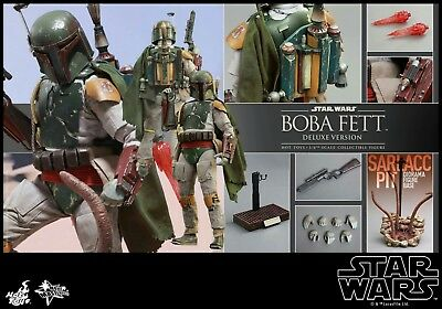 STAR WARS:BOBA FETT DELUXE VERSION 1/6 Scale Figure Set by HOT TOYS - NEW MMS313