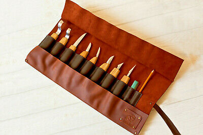 Spoon Carving Set Sculpture Woodcarving Tools Spoon Knives Tool Roll BeaverCraft