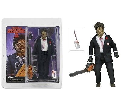 "Neca Texas Chainsaw Massacre Part 2 Clothed Leatherface 8"" Action Figure"