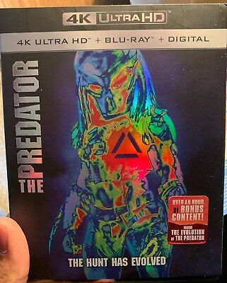 THE PREDATOR 2018 4K ULTRA HD BLU RAY 2 DISC SET in case with Slipcover No Digit
