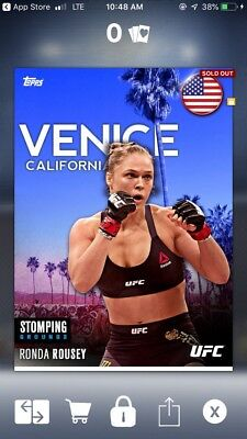 [DIGITAL] Topps UFC Knockout Digital Card Ronda Rousey Stomping Grounds (200cc)