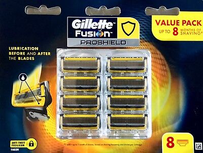 Gillette Fusion Proshield  Razor Blades 8 Pack Made In Germany New & Sealed