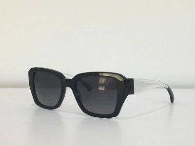 0538ee002e0c2 7 Chanel 5263 c.501 S8 Rectangle Black Gray Clear Polarized Sunglasses 54-