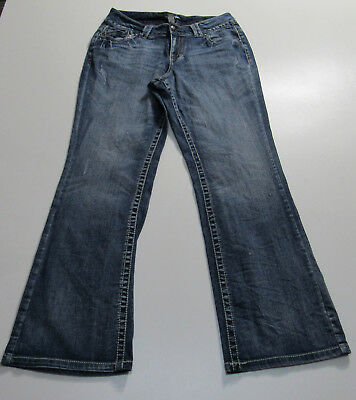 Women's Lane Bryant Distressed Boot Cut Stretch Blue Jeans Size 14 : 1953