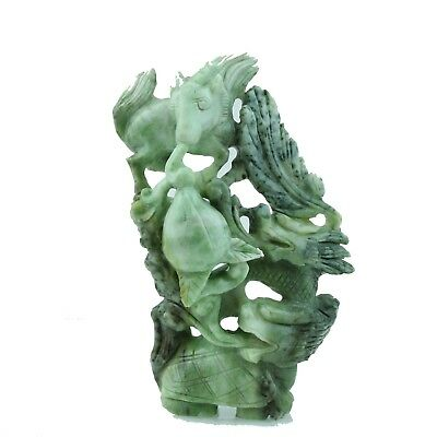 Vintage Hand Carved Natural Jade 'Feng Shui' Good Luck Chinese Collection