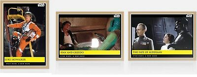 2019 Topps Star Wars Galactic Moments: Countdown to Episode 9 - Week 4 (3-Cards)