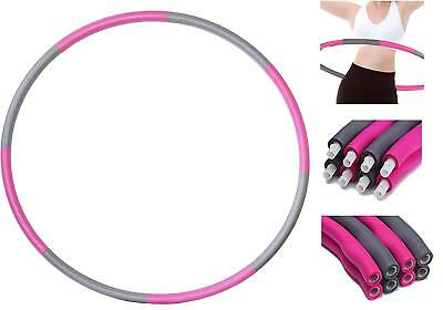 1.2KG Weighted Hula Hoop Foam Padded Exercise Abs Workout Fitness Collapsible