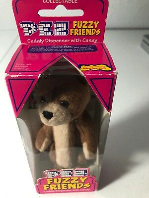 Vintage 2001 Pez Fuzzy Friends Jade Bear Dispenser (NIB)