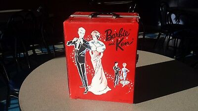 Mattel Barbie 1963 Skipper 1960 Ken Doll Midge 1958 Case Clothes Accessories