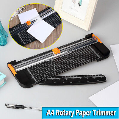 A4 Photo Rotary Paper Cutter Guillotine Card Trimmer Ruler Office Art Heavy Duty