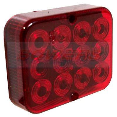 Maypole 12V Compact Universal E-Approved Trailer Led Red Rear Fog Lamp Light