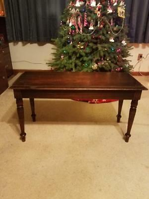 Vintage Antique One Of A Kind Hand Carved Piano Bench