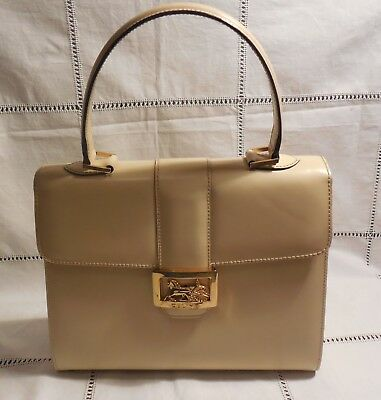 80 Leather Model Handbag Beige Celine Vintage Year Paris w0f6p7pxq