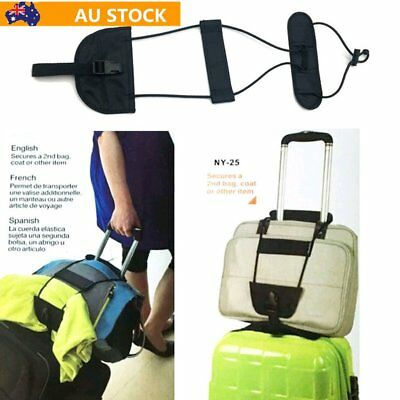 Black Bag Bungee Strap Luggage Backpack Carrier Travel Helper Unisex One Size KQ