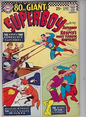 80 Pg Giant SUPERBOY #138 DC 1967 Fine