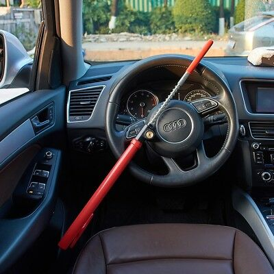 Steering Wheel Lock Security Device Steel Heavy Duty Extendable Dourable Hook