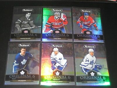 "'18/19 UD Parkhurst ""ORIGINAL 6"" insert set w/ AUSTON MATTHEWS CAREY PRICE"